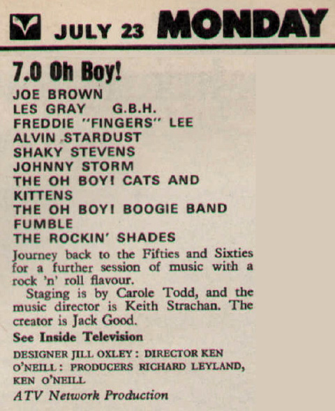 Oh Boy 23 Jul 1979