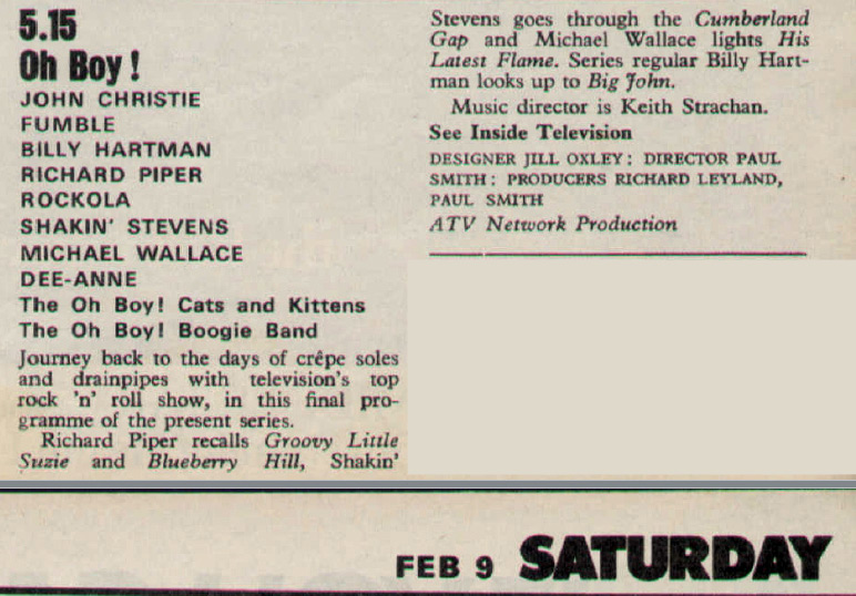 Oh Boy 9 Feb 80